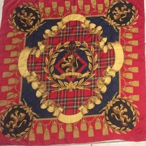 Vintage Express scarf beautiful vibrant red.